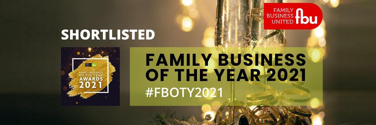 Shortlisted for North & Northern Ireland Family Business of the year!